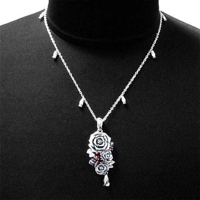 【海外訂購】【KONRON】我愛玫瑰純銀項鍊 45cm(KRP0715-Cz  03643900G2) 3