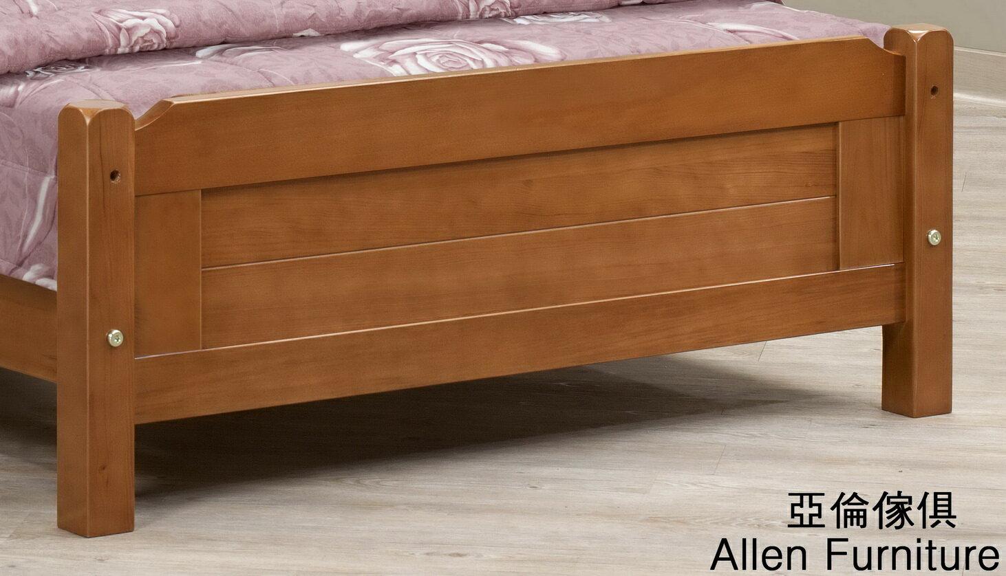 亞倫傢俱*愛莉潔兒檜木實木百葉單人床架 (樟木色) 2