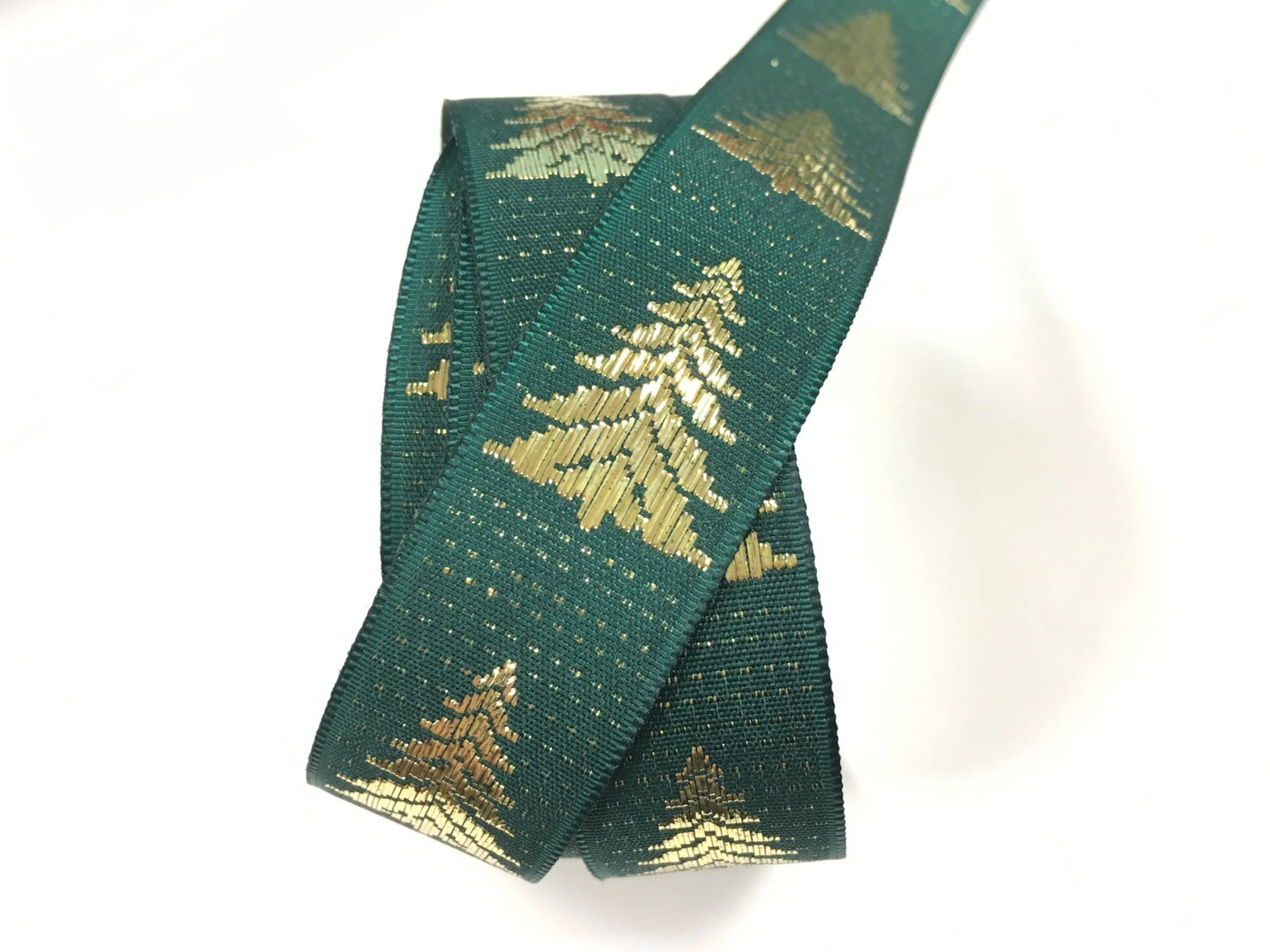 聖誕樹 緹花緞帶 20mm 3碼裝 (2色) 0