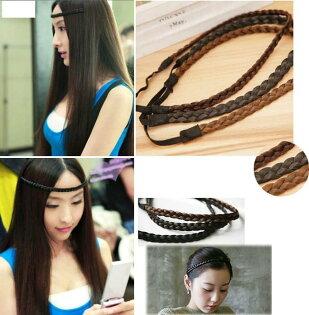 ★草魚妹★H372假髮麻花辮子造型額頭髮圈髮束髮箍髮帶髮飾飾品配件,售價39元