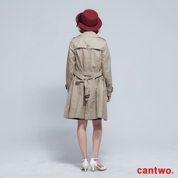 cantwo雙排釦兩穿式風衣外套(共二色) 3