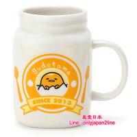 【真愛日本】16091400016罐型馬克杯-GU餐盤刀叉    三麗鷗家族 蛋黃哥 Gudetama 馬克杯 水杯  杯子 正品
