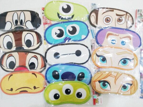 迪士尼 絨布 眼罩 米奇 米妮 史迪奇 奇奇蒂蒂 冰雪奇緣 怪獸電力公司 玩具總動員 39元 居家 正版授權 JustGirl