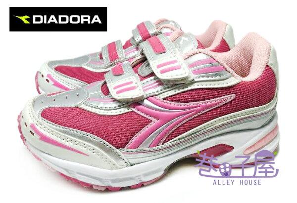 【巷子屋】義大利國寶鞋-DIADORA迪亞多納 女童三大機能寬楦雙絆帶運動慢跑鞋 [8082] 粉 超值價$398