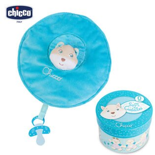 chicco--粉藍狐狸安撫抱毯舒眠禮盒