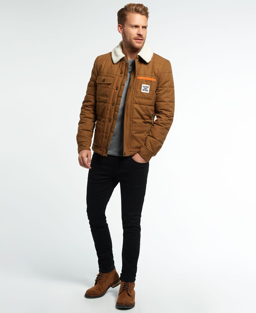 [男款] 英國代購 極度乾燥 Superdry Redford 男士風衣戶外休閒外套夾克 防水 防風 保暖 棕褐色 1