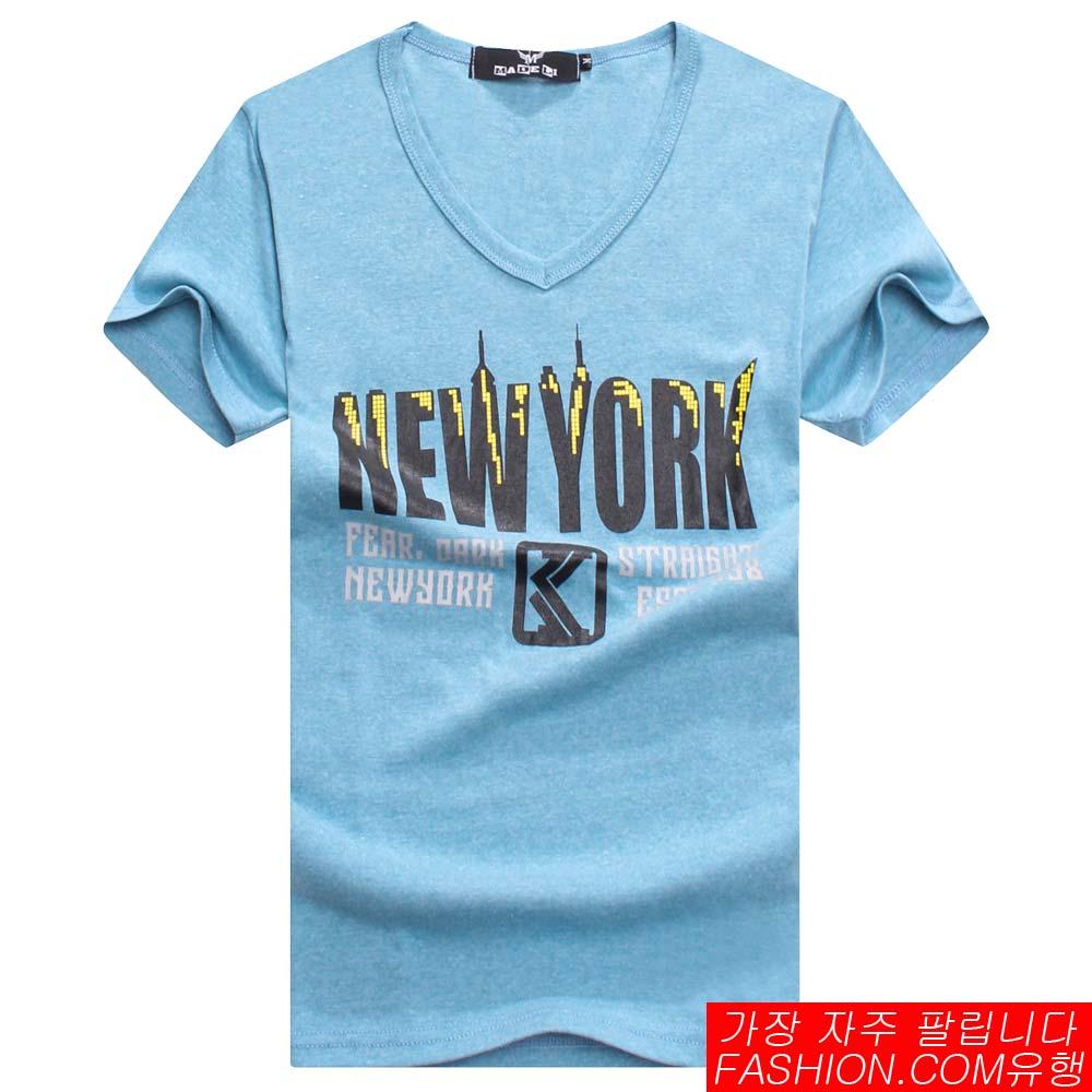 DITION SHOP NEW YORK城市麻花短T 韓系情侶 1
