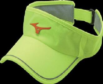 [陽光樂活]MIZUNO 美津濃 女運動路跑空心帽 可調節式 吸汗速乾 眼鏡插座 J2TW620346 螢光黃