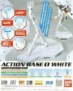 ◆時光殺手玩具館◆ 現貨 組裝模型 模型 鋼彈模型 BANDAI 1/144 1/100 通用支架 腳架 支撐架 (白) ★單筆滿2千免運費到9月底★