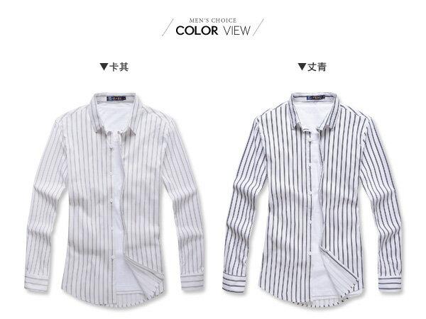 ☆BOY-2☆【NR92011】紳士休閒直條紋長袖襯衫 1