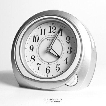 SEIKO精工鬧鐘 簡約設計閃耀星空銀色半圓造型 實用夜光功能鬧鐘 柒彩年代【NV1701】原廠公司貨 0