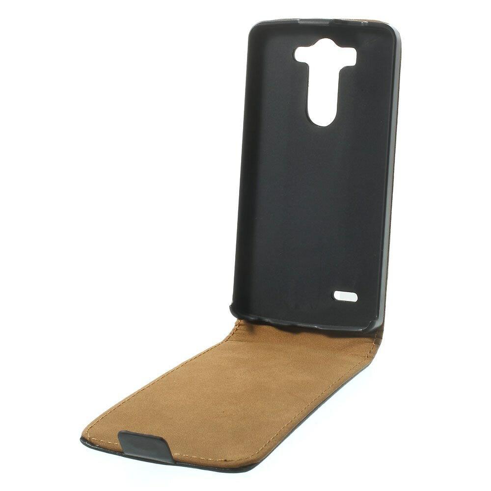 Funda Cuero Con Tapa NEGRA LG G3 S (Mini) + Protector Pantalla 1