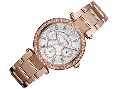 美國Outlet正品代購 MichaelKors MK  玫瑰金陶瓷 水鑽 三環 手錶 腕錶 MK5616 2