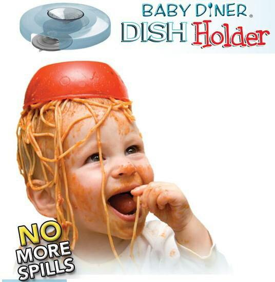 ~~Baby Diner Dish Holder ~嬰兒餐具強力吸盤架 美國