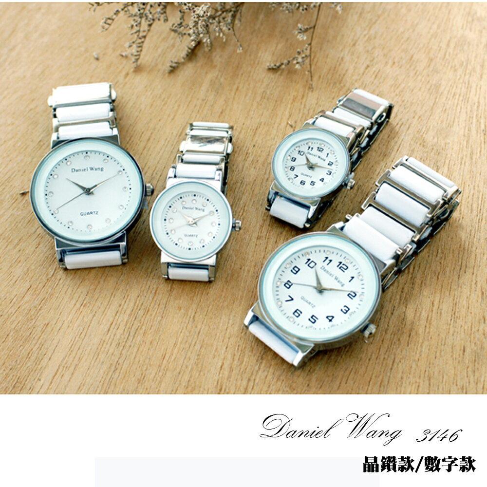 Daniel Wang 3146 氣質美氛多角度切割鏡面仿陶瓷男錶/女錶-數字/晶鑽款 0