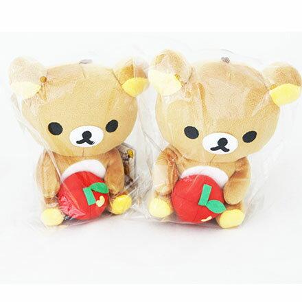 [敵富朗超市]15CM坐姿拉拉熊抱蘋果款 0