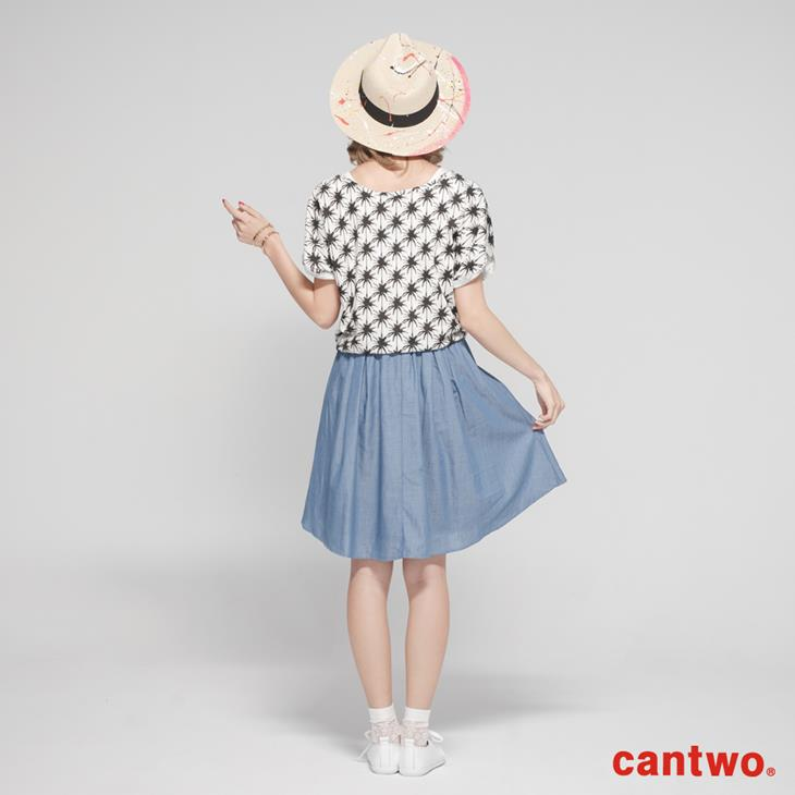 cantwo熱帶滿版椰子樹兩件式洋裝(共二色) 3