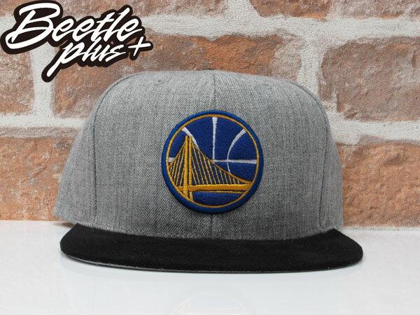 MITCHELL&NESS NBA WARRIORS 金州 勇士 CURRY 灰黑 麂皮 SNAPBACK 帽 總冠軍 0