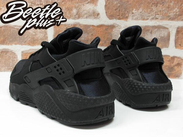 BEETLE PLUS 西門町經銷 全新 NIKE AIR HUARACHE BLACK 全黑 黑武士 忍者鞋 男鞋 318429-003 D-136 2