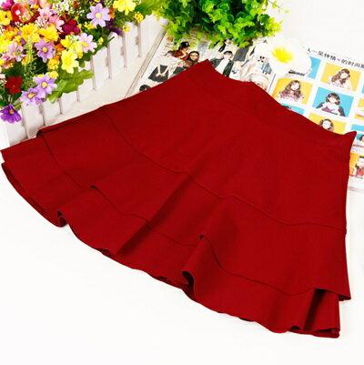 短裙 雙層半身裙~純色百搭 俏麗女裙子7色73ea86~ ~~米蘭 ~ ~  好康折扣
