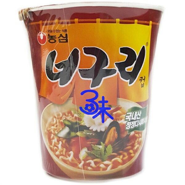(韓國) 農心 昆布海鮮杯麵-辣味  1碗 62 公克 特價 40 元 【8801043015837】