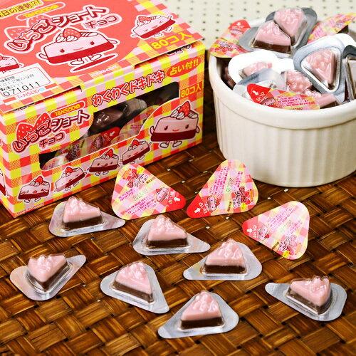 有樂町進口食品 日本丹生堂巧克力三角型草莓巧克力 80入 4990327000028