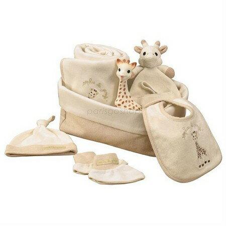 最新包裝 法國Vulli 蘇菲有機棉新生兒四件禮盒【巴黎好購】 1
