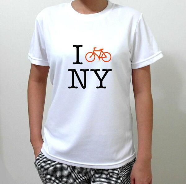 『I BIKE N.Y』HiCool機能性吸濕排汗圓領T恤