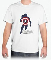 美國隊長周邊商品推薦『美式足球隊長』HiCool機能性吸濕排汗圓領T恤