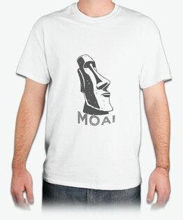 MOAI『毛埃石像』HiCool機能性吸濕排汗圓領T恤