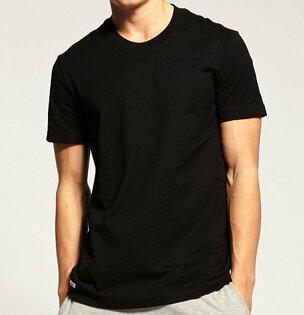 型男必備百搭單品 黑色重磅圓領T恤 羅紋領口設計 100%精梳棉