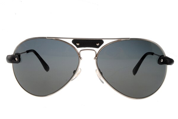 [Anson King]法國100%正品代購 CHLOE 克羅伊 好萊塢 時尚飛行復古皮革 CL2104系列 銀黑色 3