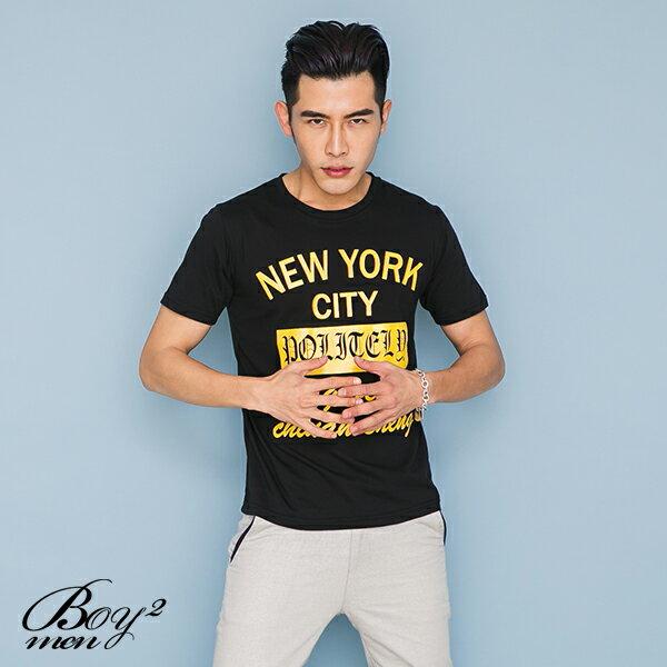 ☆BOY-2☆【OE10607】韓版休閒文字NEW YORK CITY型男短袖T恤 3
