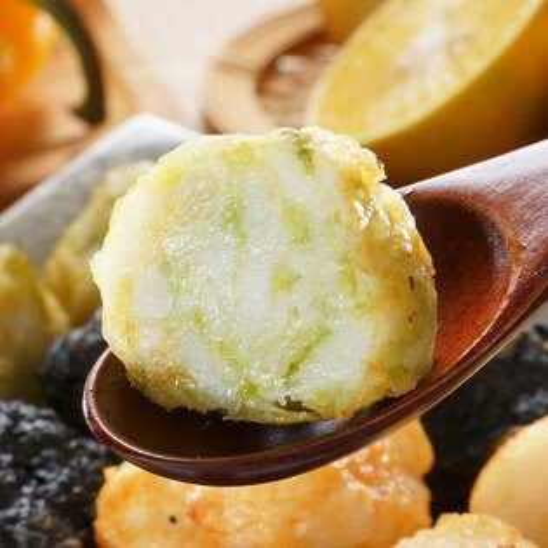 【海菜花枝丸】100%純花枝漿,無香料 無防腐劑  無硼砂,澎湖海菜與天然花枝肉手作而成