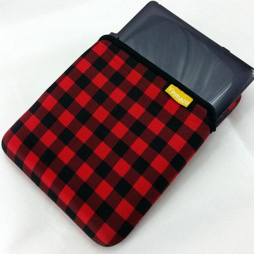 10吋 豎款 多樣花色 筆電 保護套 避震袋 (NA010) 紅黑格紋