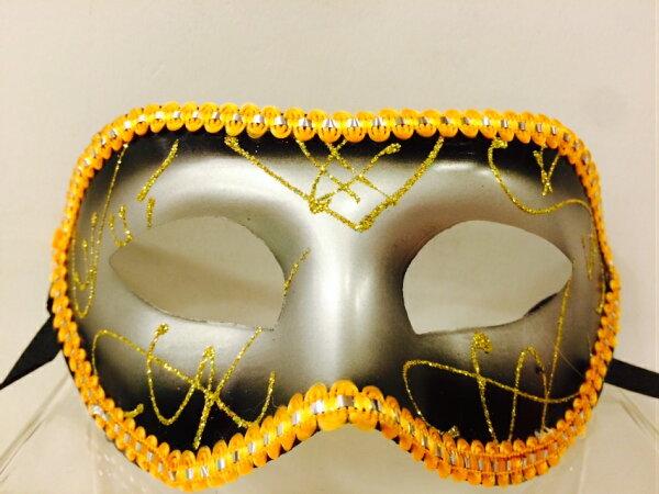 X射線【W506352】亮面緞帶面具(黑),萬聖節服裝/派對用品/舞會道具/cosplay服裝/角色扮演