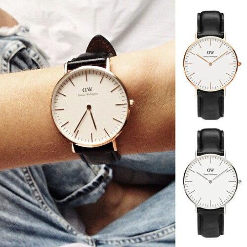 【Cadiz】瑞典DW手錶Daniel Wellington 0508DW 玫瑰金0608DW 銀 Sheffield 36mm [代購/ 現貨] - 限時優惠好康折扣
