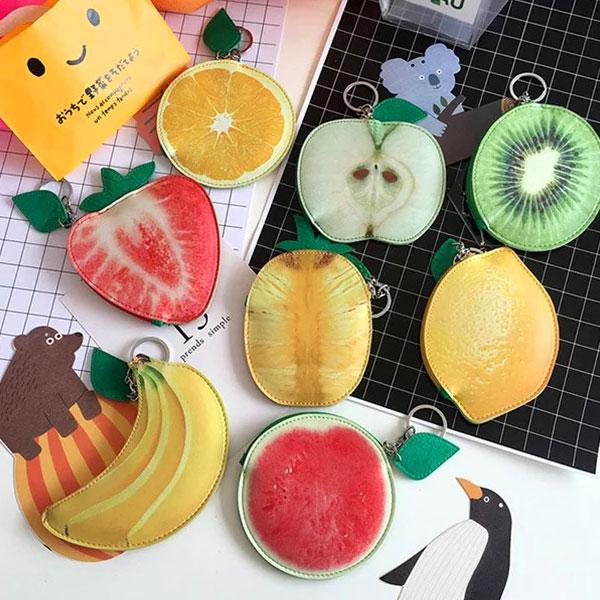 水果 零錢包 小包 鑰匙包 草莓 香蕉 鳳梨 橘子 青蘋果 檸檬 西瓜 可愛