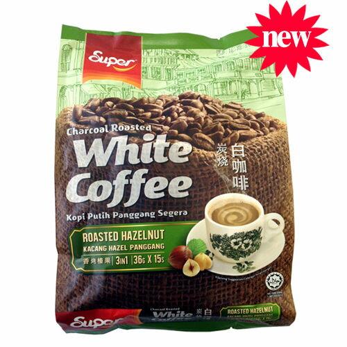 【Super 超級】 3合1炭燒白咖啡(香烤榛果味)36g x 15入