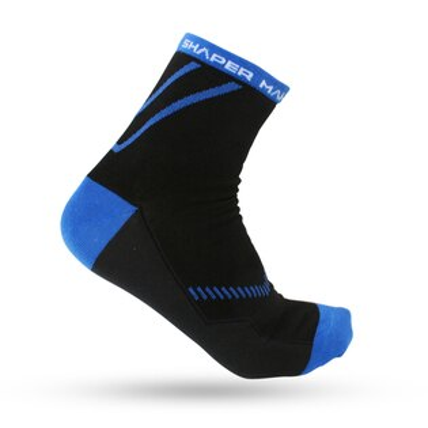SHAPER MAN-馬拉松慢跑襪COOL MAX - 薄款 (藍)