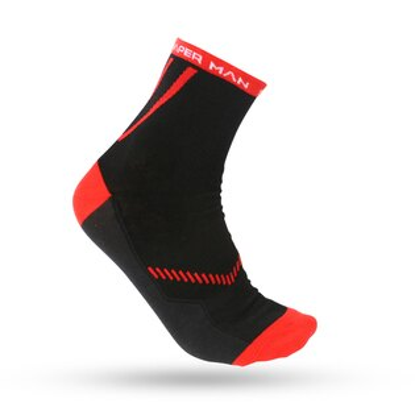 SHAPER MAN-馬拉松慢跑襪COOL MAX - 薄款 (紅)