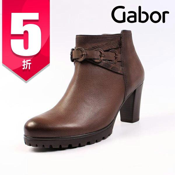 Gabor 真皮扣環跟靴