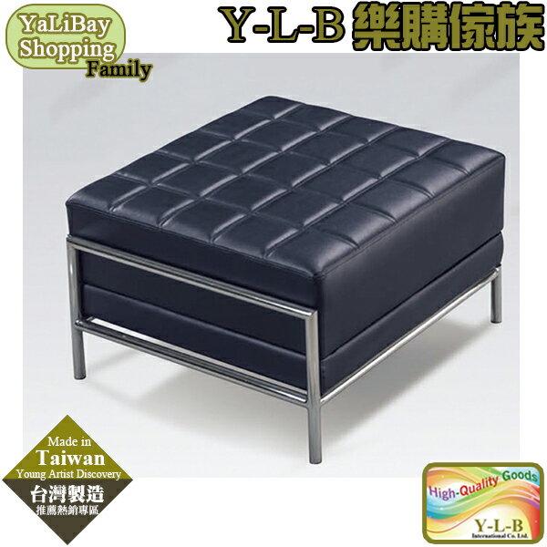 ~亞麗灣國際 ~ 式輔助沙發^(黑皮 方格^) YLBMT220597~3