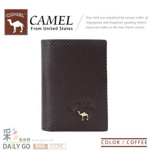 CAMEL卡梅爾-駱駝 真皮多夾層功能 男用 名片夾-登喜路紋咖啡【CM-11159-2】