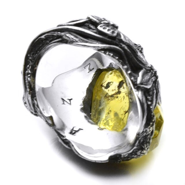 【海外訂購】【LYLY ERLANDSSON】the WINTER 極寒冰雪純銀戒指 - 檸檬黃(L-02-004) 2
