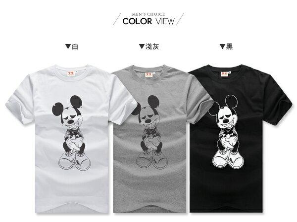 ☆BOY-2☆ 【IT8002】情侶韓版潮流刺青米老鼠短袖T恤 1