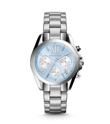 美國Outlet 正品代購 Michael Kors MK 簡約淺藍三環計時手錶腕錶 MK6098 1