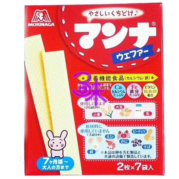 (日本) 森永 MORINAGA  嬰兒威化餅1盒 35.7 公克 特價 66 元【4902888200014】 (森永嬰兒骨餅威化 森永條狀威化餅)