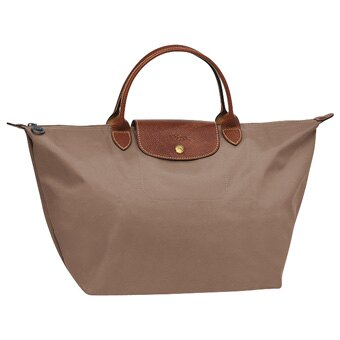 [1623-M號]國外Outlet代購正品 法國巴黎 Longchamp  短柄 購物袋防水尼龍手提肩背水餃包 香檳金 0