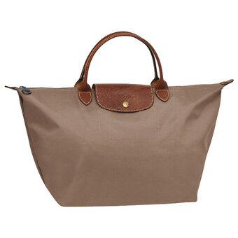 [1623-M號]國外Outlet代購正品 法國巴黎 Longchamp  短柄 購物袋防水尼龍手提肩背水餃包 香檳金